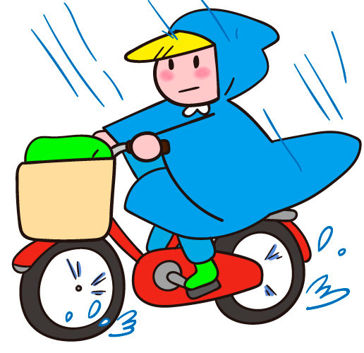 ダイエット96日目 雨の日の自転車通勤