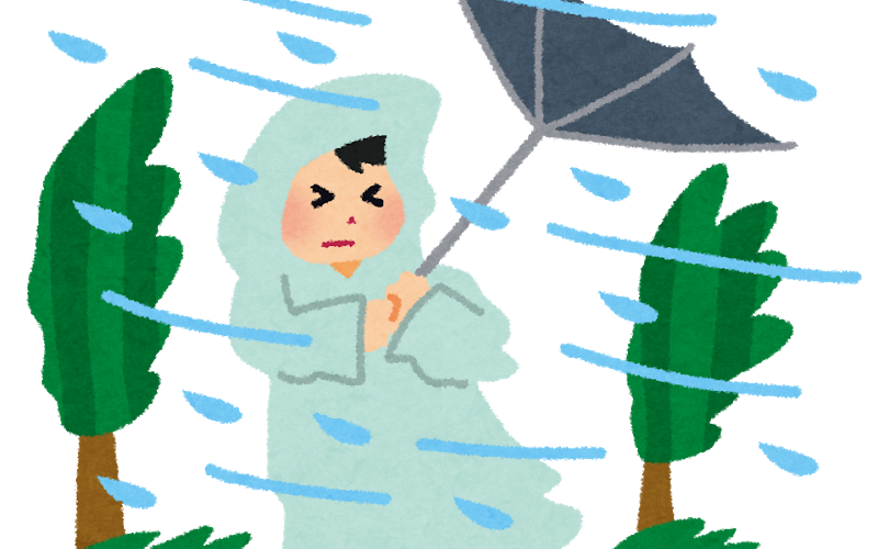 ダイエット90日目 台風に注意!